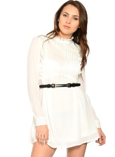 Unique Elbise Beyaz